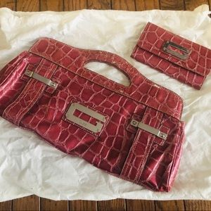 Guess Clutch with Matching Wallet